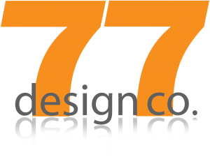 77 Design Co orange logo.