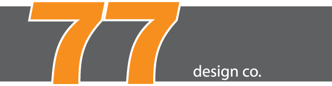 77 Design Co gray and orange logo