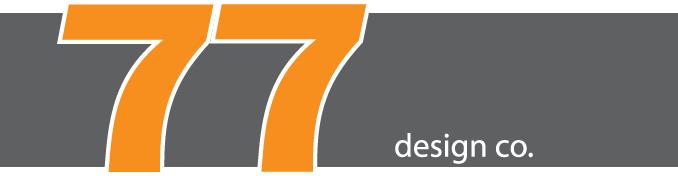77 Design Co gray and orange logo