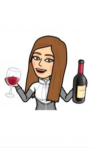 Email Marketing Girl Image holding a bottle of wine.