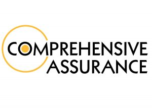 Black and yellow Comprehensive Assurance logo on a white background.
